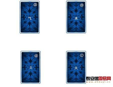 塔罗牌占卜之四要素展开法